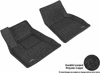 3D MAXpider Front Row Custom Fit All-Weather Floor Mat for Select Tesla Model S Models - Classic Carpet (Black)