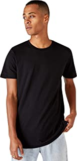 COTTON ON Mens Essential Longline Scoop T-Shirt