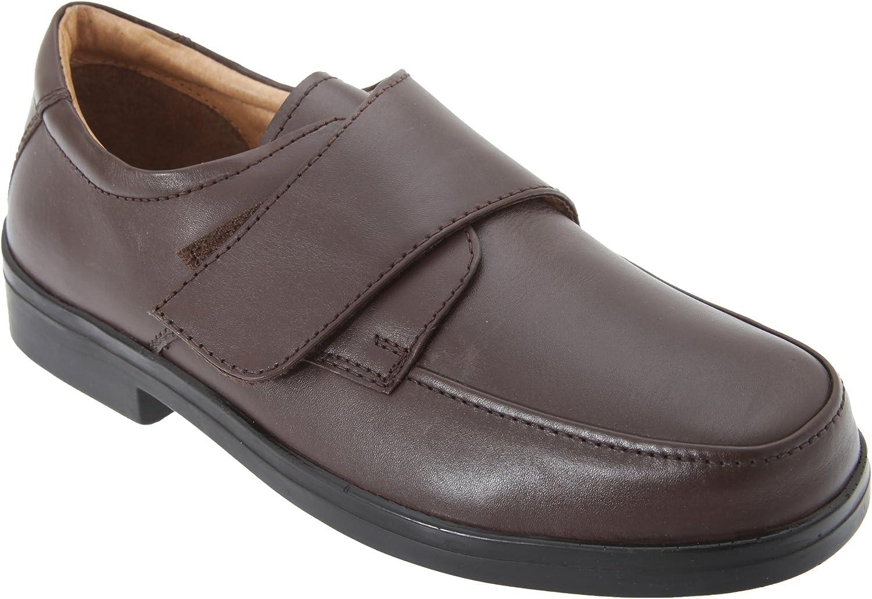 Roamers Herren Schuhe mit Klettverschluss, breite Passform  | Zürich