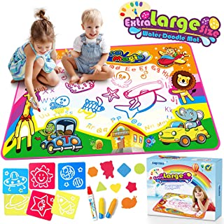 Water Doodle Mat Water Drawing Mat Aqua Magic Mats Kids Toys Mess Free Coloring Writing Mat Gift for Toddlers Kids Doodle Learning Educational Toy for 2, 3, 4, 5, 6, 7, 8 Years Old Toddlers Boys Girls