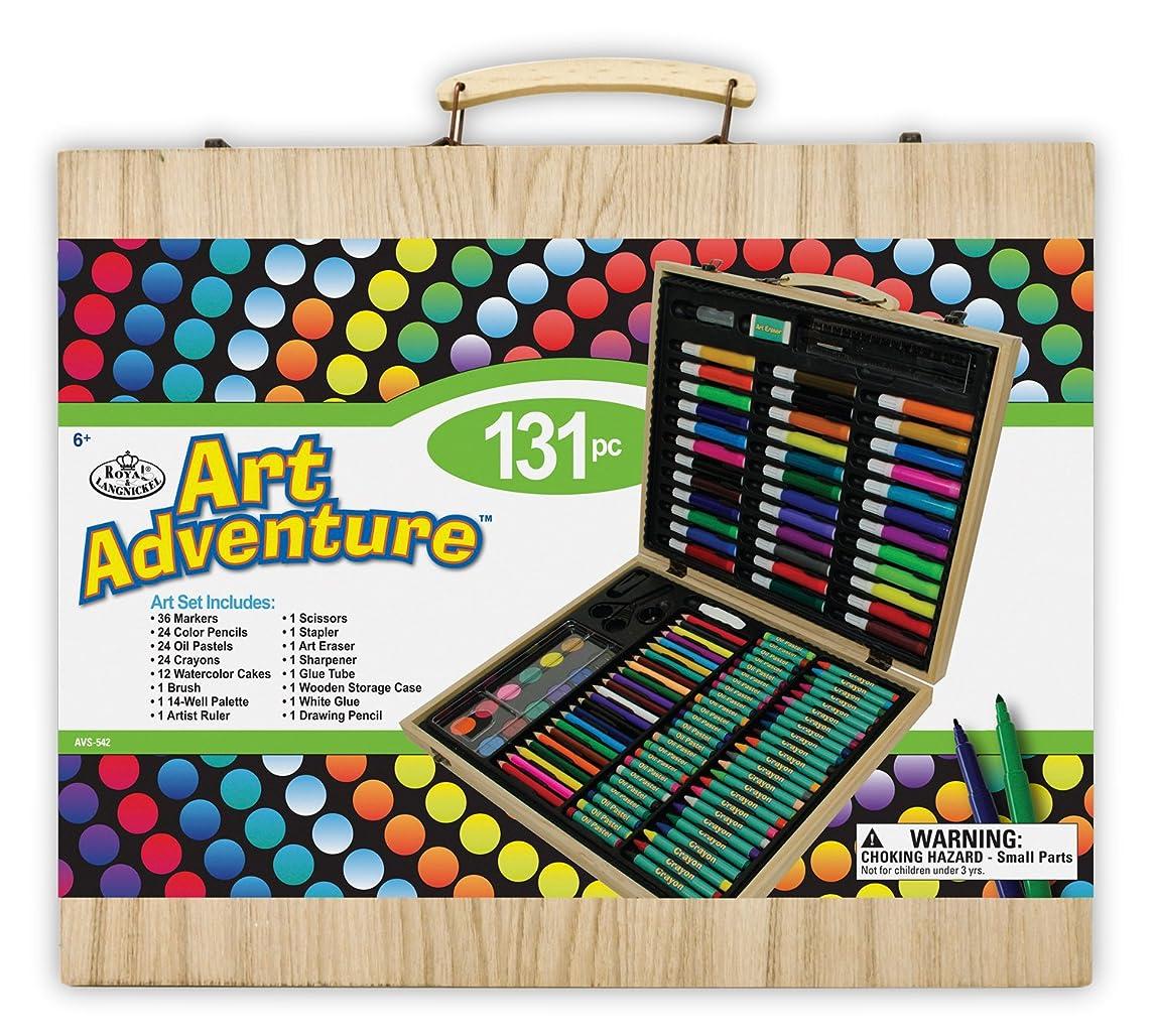 Royal Brush Manufacturing Company Art Adventure 131-Piece Wood Box Art Set