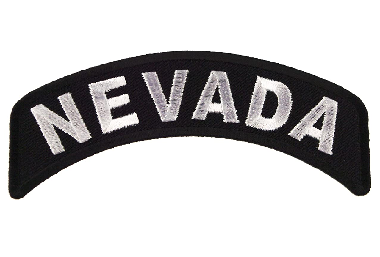 Nevada State Rocker Iron or Sew on Embroidered Shoulder Patch D37
