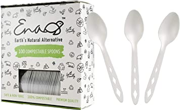 Earth's Natural Alternative CompostableSpoon (100 Count), White