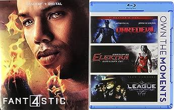 Powering Up Super Marvel Movie Bundle Fantastic Four (Blu-ray + Digital HD) 2015 + Daredevil (Director's Cut) / Elektra (Director's Cut) /League Extraordinary Gentleman 4-Movie Set