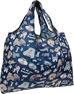 Wrapables Reusable Shopping Bag Large Silly Dogs
