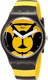 Swatch Originals Max L'Abeille Yellow Dial Silicone Strap Unisex Watch SUOB149