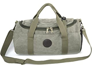 Bear Motion Collection Premium Canvas Duffel Bag Gym Bag Weekend Travel Sports Outdoor