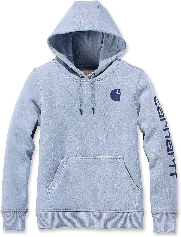Carhartt Womens Regular Clarksburg Sleeve Logo Hooded Sweatshirt