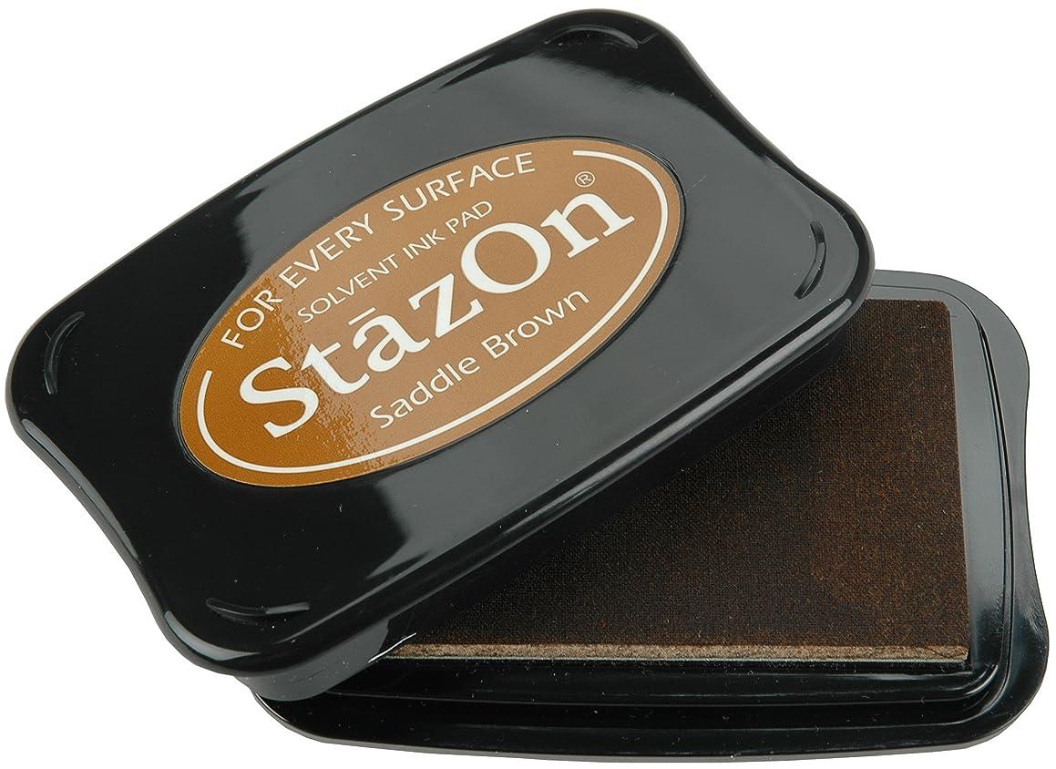 Tsukineko Full-Size StazOn Multi-Surface Inkpad, Saddle Brown