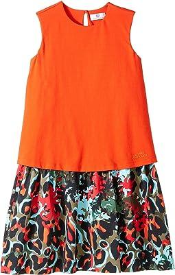 Versace Kids - Layered Dress w/ Animal Print Skirt (Big Kids)