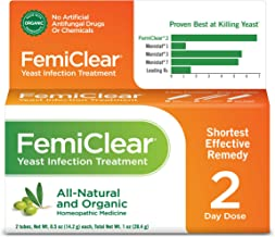 FemiClear 2-Day Yeast Infection Treatment | All-Natural & Organic | Ointment + External Itch Relief Ointment