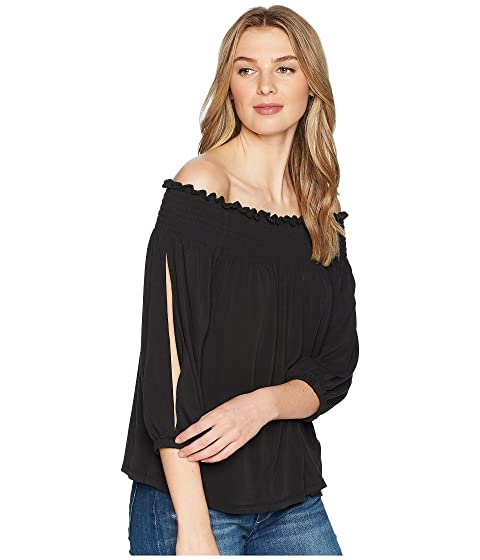 967fecb3db4589 1.STATE Smocked Edge Off Shoulder Top at 6pm