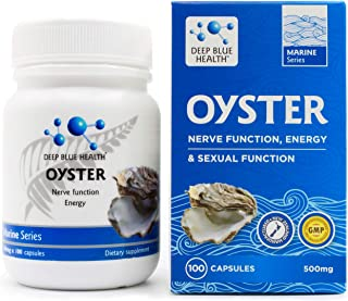New Zealand Oyster with Green Lipped Mussel - 500mg x 100 Capsules - Supports Nerve Function, Energy, Sexual Health & Immunity - Zinc Deficiency Supplement