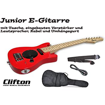 Guitarra eléctrica Junior Clifton con amplificador integrado y ...