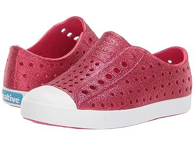 Native Kids Shoes Jefferson Bling Glitter (Toddler/Little Kid) (Sakura Pink Bling Glitter/Shell White) Girls Shoes