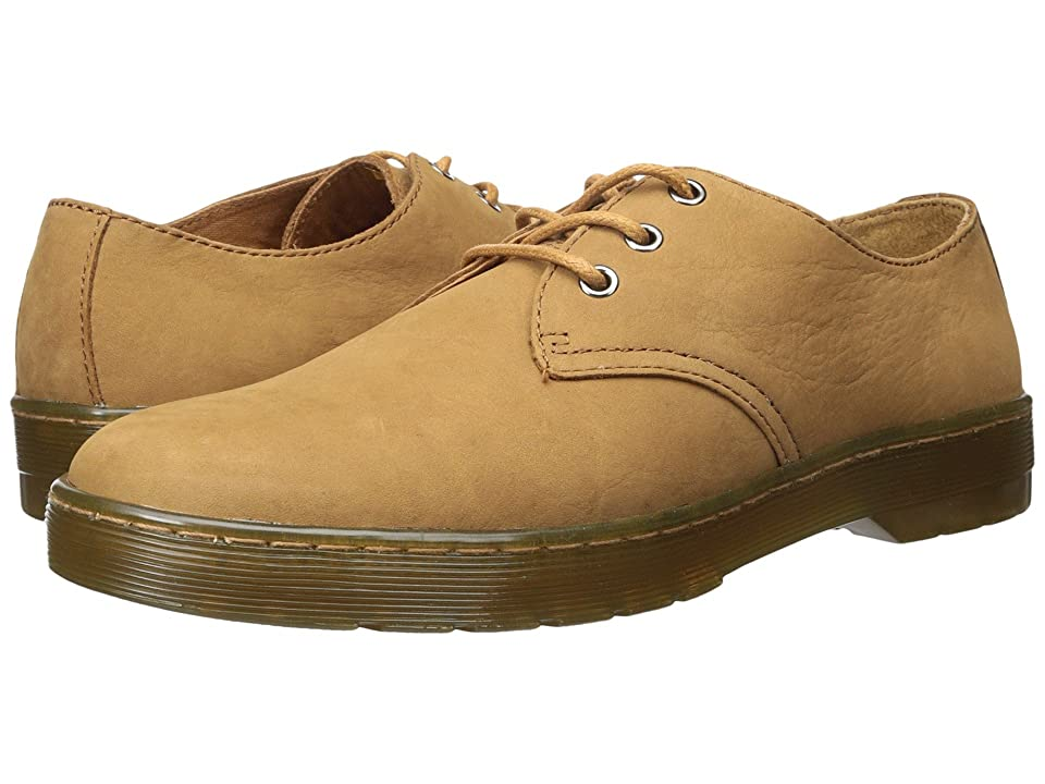 Dr. Martens Coronado 3-Eye Shoe (Tan Slippery Wp/Tan Co Cotton Drill) Men