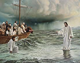 Jesus - Walking On Water - Christian 11 x 14 * 11X14 GLOSSY Photo Picture
