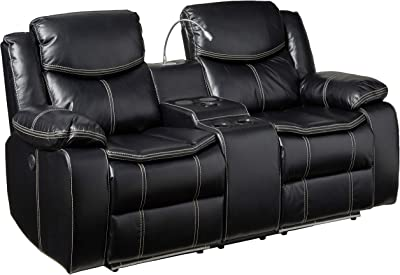 Amazon.com: Posavasos Home Furnishings Power Love Seat, Tela ...