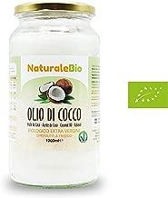 Olio di Cocco Biologico Extra Vergine 1000ml   Crudo e Spremuto a Freddo   Organico e Puro al 100%   Ideale per Capelli, per il Corpo e ad Uso Alimentare   Olio di Cocco Bio Nativo e non Raffinato 1L