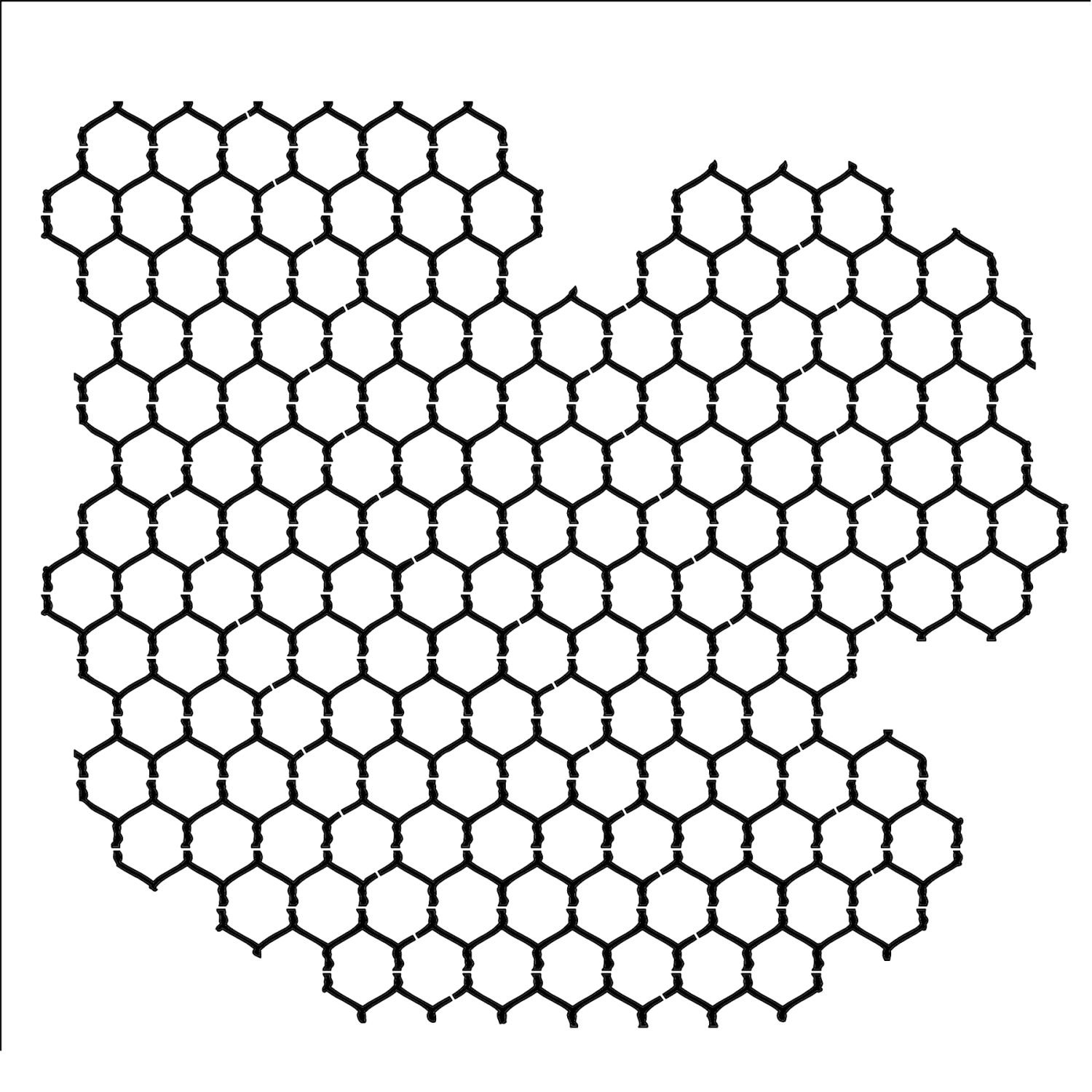 CRAFTERS WORKSHOP Template, 6 by 6-Inch, Chicken Wire Reversed