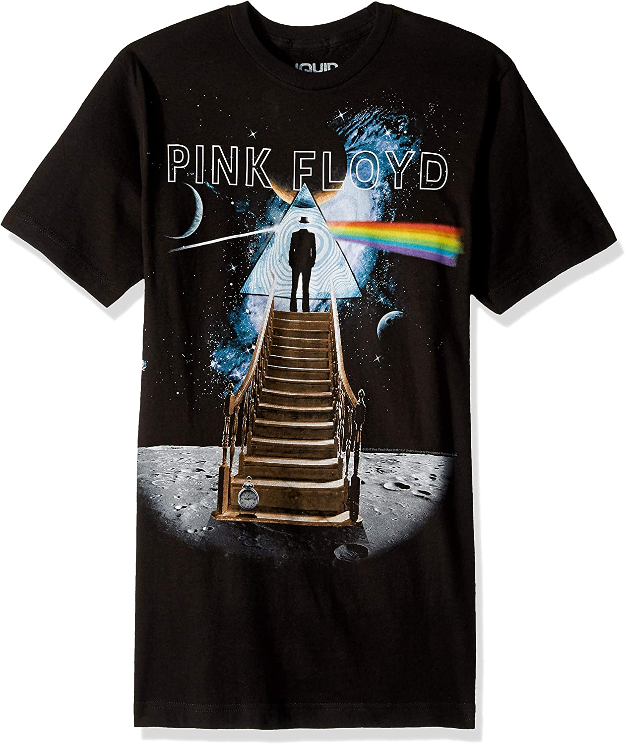 Liquid Manufacturer direct delivery overseas Blue Pink Floyd Stairway Moon The T-Shirt to