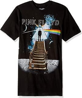 تي شيرت مطبوع عليه صورة فلويد أزرق وردي Stairway to The Moon
