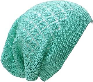 an Adult Slouchy Beanie Hat Open Weave Crochet Mesh Light Fashion Baggy Cap
