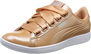 Puma Women's Vikky Ribbon P Coral-Dusty Co Leather Sneakers