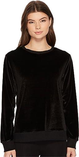 DKNY - Velour Long Sleeve Top