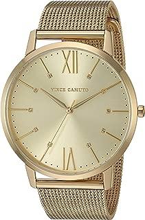 Vince Camuto Women's VC/5332CHGB Swarovski Crystal Accented Gold-Tone Mesh Bracelet Watch