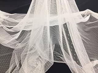 English Netting - Mesh Net Fabric Soft White for Bridal Veil & Wedding Decorations 60