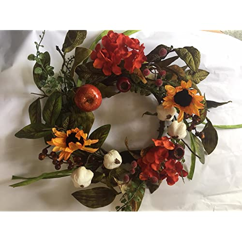 "5-Sunflower 6.5/"" Candle Ring Pillar Taper Home Kitchen Decor Flower Decor Only"