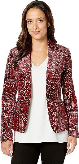 Printed Paisley Velvet Jacket