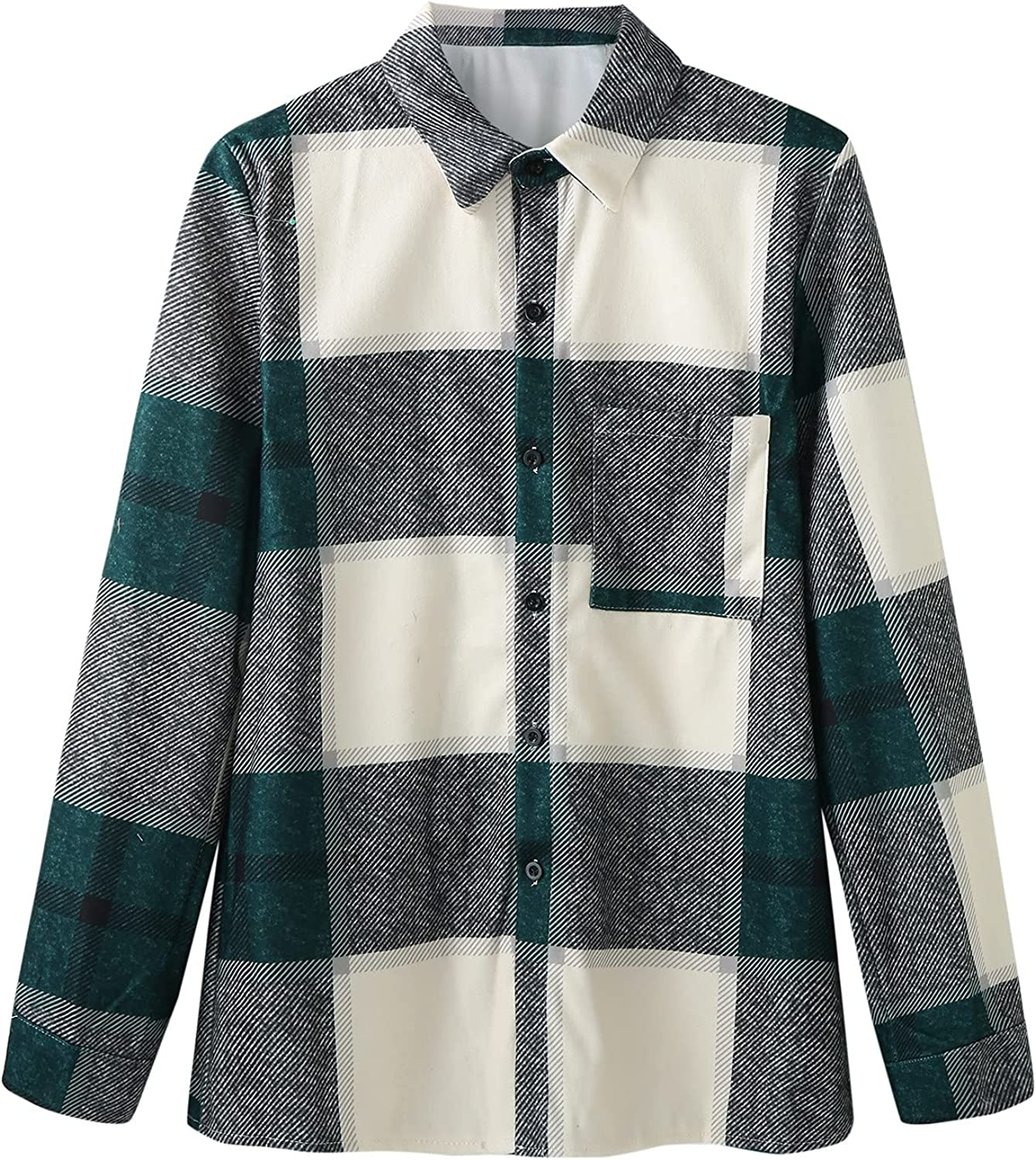 Men's Plaid Stamp Jackets,Long Sleeved Warm Lined Plush Thicken Shirt V257