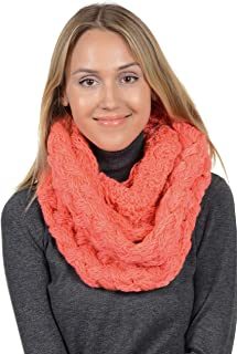 Women Winter Chunky Knitted Infinity Scarf Warm Circle Loop Various Colors
