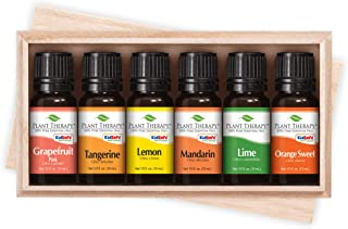 Plant Therapy Essential Oils Fruits Set - Grapefruit, Tangerine, Lemon, Mandarin, Lime, Orange Sweet In A Wooden Box 100% Pure, Undiluted, Natural Aromatherapy, Therapeutic Grade 10 mL (1/3 oz)