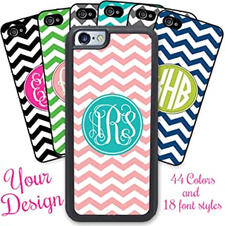 iPhone 6, iPhone 6S, Simply Customized Phone Case Compatible with Apple iPhone 6 6S (4.7 inch) - Chevrons You Design Monogram Monogrammed Personalized