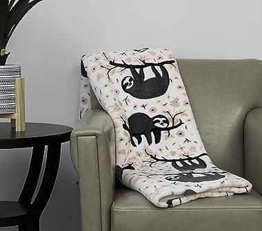 Thro by Marlo Lorenz Throw Blanket, Light Pink Gray
