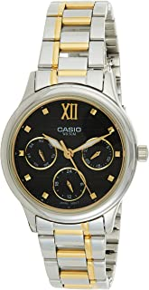 Casio Womens Quartz Watch, Analog Display and Stainless Steel Strap LTP-E306SG-1AVDF