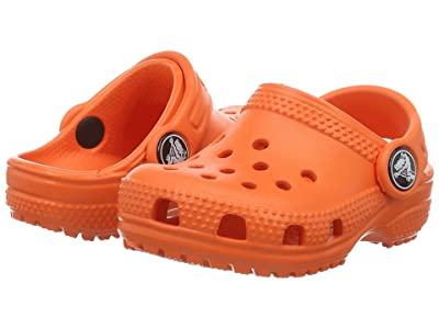 Crocs Kids Classic Clog (Toddler/Little Kid) (Tangerine) Kids Shoes