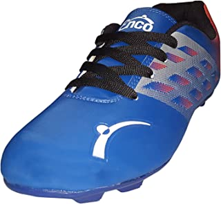 Enco Football Sports Shoes Nitro 1.0 Light Weight Soccer BLU/SIL/ORG