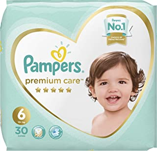 Pampers Premium Care Diapers, Size 6, Extra Large, 13+ kg, Jumbo Pack, 30 Count