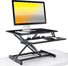 """Seville Classics AIRLIFT WEB599 Height Adjustable Compact 30"""" Standing Desk Converter Workstation - Removable Keyboard Tra..."""
