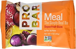 PROBAR - Meal Bar - Superfruit Slam - Organic Oats, Nuts, Seeds, Gluten Free, Non-GMO Project Verified, Plant-Based Whole Food Ingredients, 8g Protein, 5g Fiber - Pack of 12 Bars