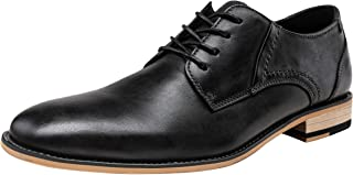 Men's Dress Shoes Leather Classic Formal Mens Oxfords Retro Derby Oxford