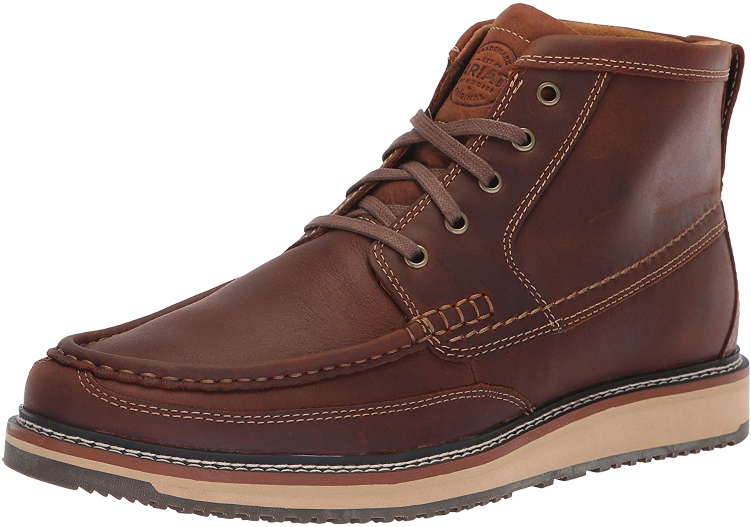 Ariat Lookout Attention brand Boot - Super Special SALE held Men's Lace-Up Bo Moc Leather Toe Round