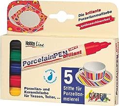 KREUL Hobby Line 16350, Porcelain Pen. Brilliant - Set of 5