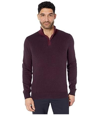 Perry Ellis 1/4 Zip Long Sleeve Sweater (Fig) Men