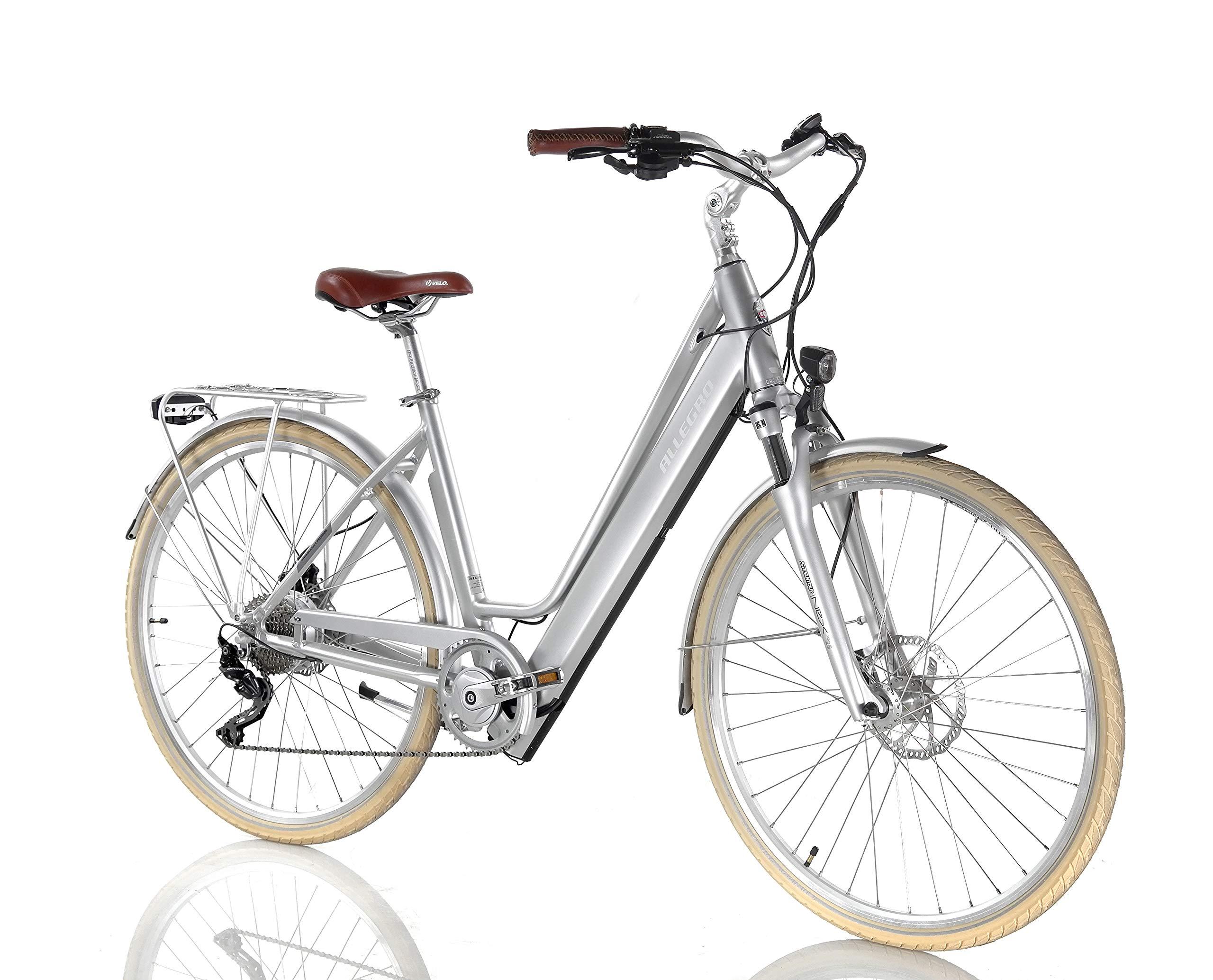Allegro Invisible City Premium Bicicleta eléctrica, Mujer, Plata ...