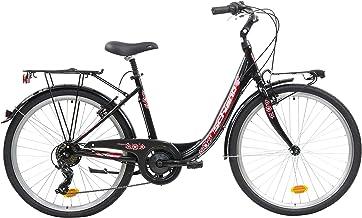 F.lli Schiano Elegance Bicicleta Urbana, Women's, Negro-Rojo